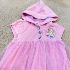 Disney 👑 Princess pink swim coverup 5/6 yr old